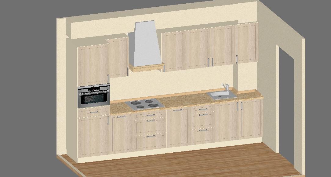 Дизайн проект кухни МДФ с фрезеровкой Аскет