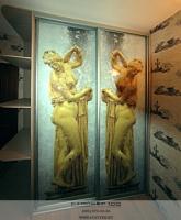 Фотопечать для дверей купе Фонтаны Петергофа фото