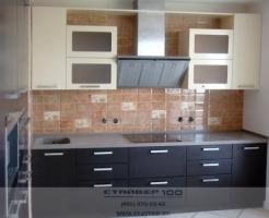 Фото кухни сливочного цвета и венге