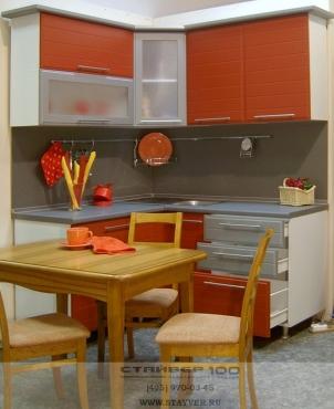 кухня терракотового цвета фото.