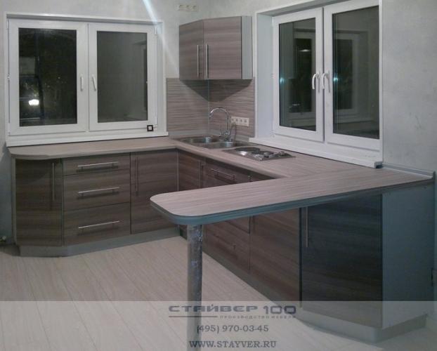 Фото кухни кофейного цвета Графит