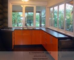 Фото кухни оранжевого цвета