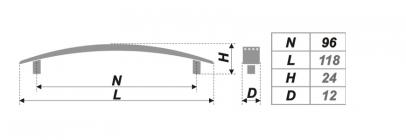 Чертеж ручки RS002CP.4/96