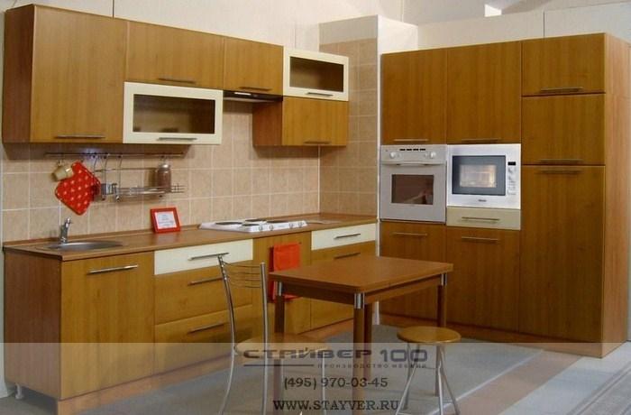 Фото кухни гостиной цвета орех