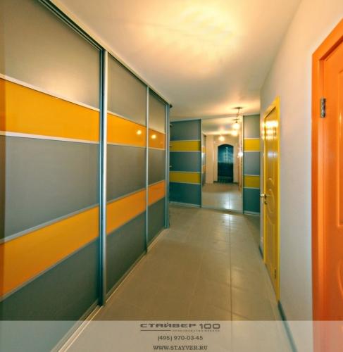 Модные шкафы-купе Yellow and Orange stripes фото
