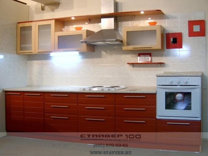 Фото кухни модного цвета: Томат+Бук