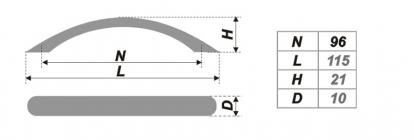 Схема ручки RS008SG.3/96