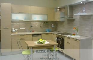 Кухня угловая в современном стиле: Античный дуб фото