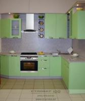Салатовая кухня. Фото