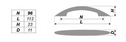 Схема ручки RS011СP.3/96