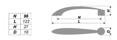 Схема ручки RS020GP.3/96