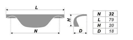Схема ручки RS025CP.3/32