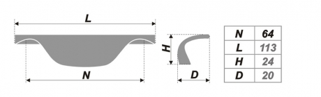 Схема ручки RS025CP.3/64