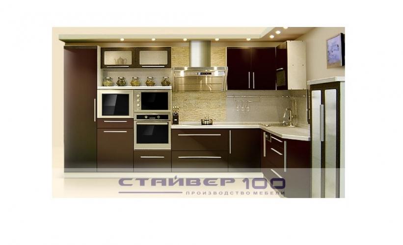 Кухня в коричневом цвете: Венге темный фото