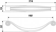 Схема ручки RS427BAC.5/160