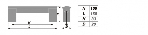 Схема ручки RS050AL.16/160