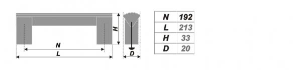 Схема ручки RS050AL.16/192