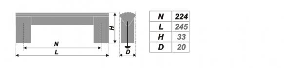 Схема ручки RS050AL.16/224