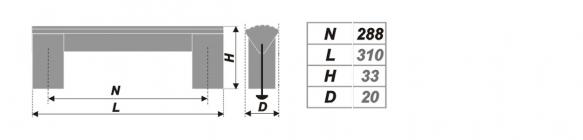 Схема ручки RS050AL.16/288