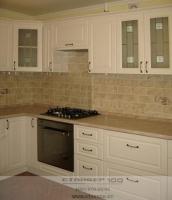 Кухня из МДФ/ ПВХ белого цвета