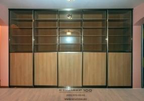 Книжный шкаф-купе библиотека фото