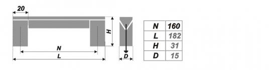 Схема ручки RS051AL.16/160