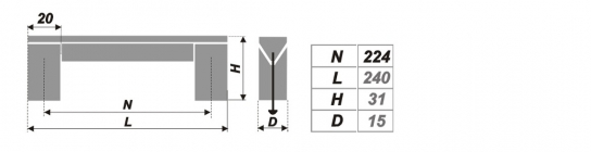 Схема ручки RS051AL.16/224