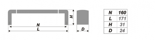 Схема ручки RS053CP/SC.4/160