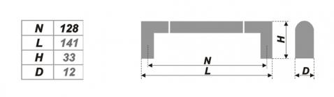 Схема ручки RS054CP/SC.4/128