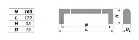Схема ручки RS054CP/SC.4/160