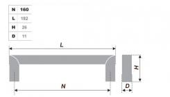 Схема ручки RS052CP.4/160