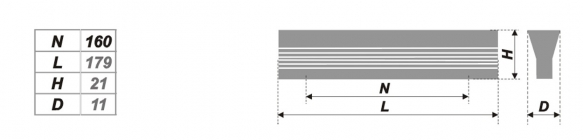 Схема ручки RS057AL.4/160