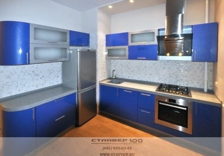 Кухни синего цвета фото