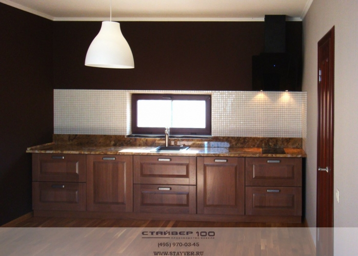 Дизайн кухни из массива ясеня фото