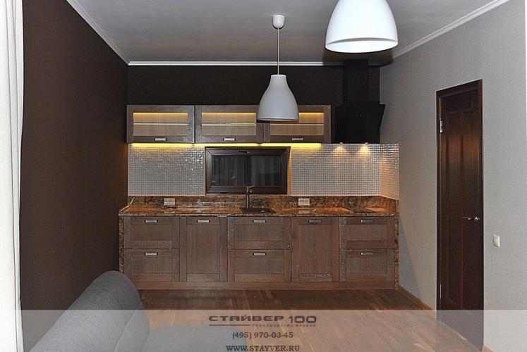 Фото кухни из массива ясеня