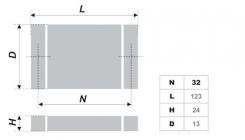 Схема ручки RS076CP.3/32