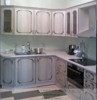кухня мдф молдавская акация патина