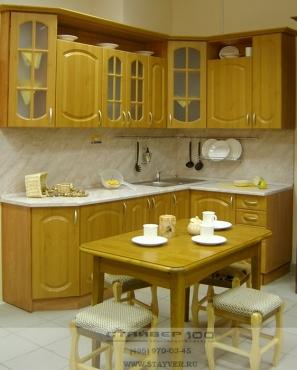 Кухня МДФ Светлый дуб