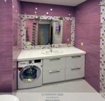 Мебель для ванной White metallic. Фото