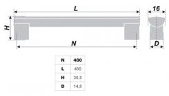 Схема ручки RS152CP.19/480