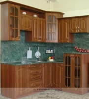 Классическая кухня из МДФ Вишня