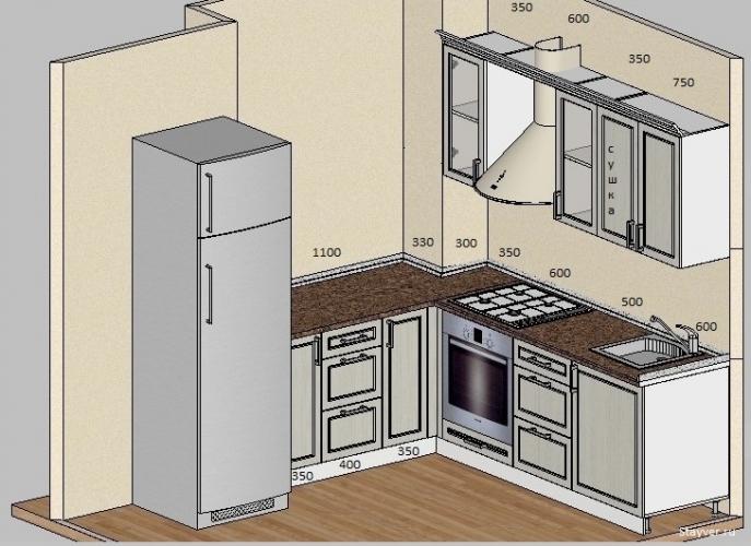 Кухня МДФ классика чертеж