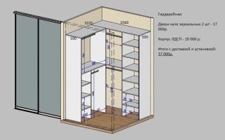 Расчет стоимости шкафов и корпусной мебели мебельная фабрика.