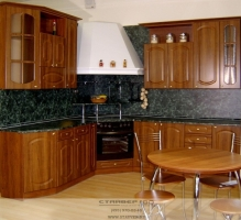 Глянцевая Кухня из МДФ Вишня