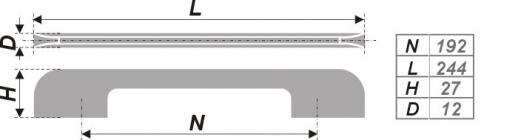 Схема ручки RS257SC.4/192