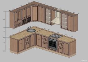Проект кухни. Фото