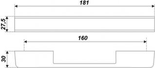 Схема ручки RS266CP/W.4/160