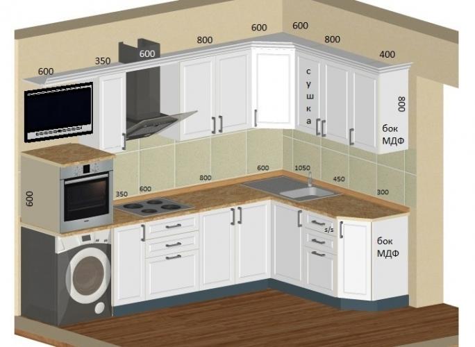 Проект кухни МДФ в классическом стиле. Фото