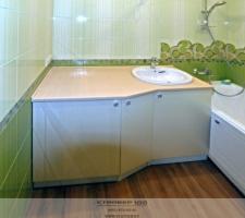 Ванная Жемчужный ясень. Фото