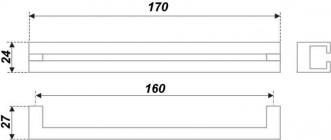 Схема ручки RS273CP.3/160